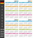 Calendario 2018-2021 Illustrazione di Stock