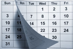 Calendario Immagini Stock