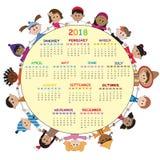 Calendario 2018 libre illustration