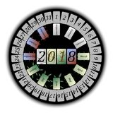 Calendario abstracto para 2018 Ilustración del Vector