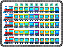 Calendario alegre de la escuela hecho por los trenes y los carros Foto de archivo libre de regalías