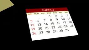 Calendario, animación 3d ilustración del vector