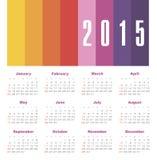 Calendario 2015 anni Fotografia Stock Libera da Diritti