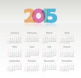 Calendario 2015 anni Fotografia Stock