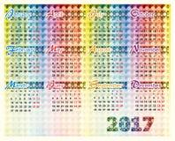 Calendario 2017 anni Immagine Stock