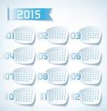 Calendario annuale 2015 Fotografia Stock Libera da Diritti