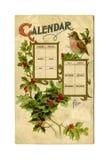 Calendario antiguo de la postal Imagen de archivo libre de regalías