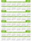 Calendario, Año Nuevo 2013, 2014, 2015, 2016 Fotografía de archivo