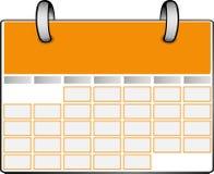 Calendario arancione Fotografia Stock Libera da Diritti