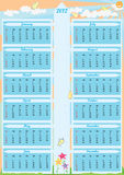 Calendario Arrow_eps del año 2012 Fotos de archivo
