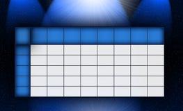 Calendario azul del universo Fotografía de archivo libre de regalías