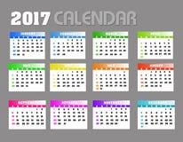 2017 calendario Backgronds Fotos de archivo libres de regalías