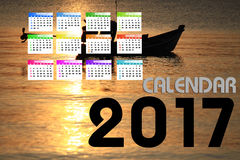 2017 calendario Backgronds Fotografía de archivo