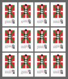 Calendario basco 2017 Fotografie Stock Libere da Diritti