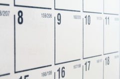 Calendario bianco Fotografie Stock Libere da Diritti