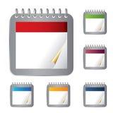 Calendario in bianco Immagini Stock Libere da Diritti