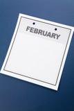 Calendario in bianco Immagine Stock
