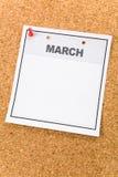Calendario in bianco Fotografia Stock Libera da Diritti