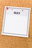 Calendario in bianco Immagini Stock