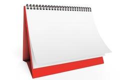 Calendario in bianco dello scrittorio Fotografie Stock