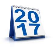 Calendario blu 2017 Fotografia Stock