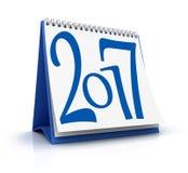 Calendario blu 2017 Immagini Stock Libere da Diritti
