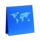 Calendario blu in bianco Fotografia Stock Libera da Diritti