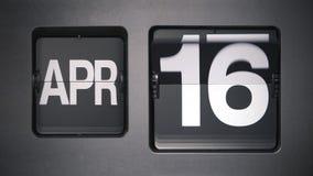 Calendario che mostra aprile archivi video