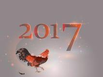 Calendario cinese Anno del gallo 2017 Immagini Stock
