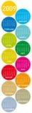 Calendario colorido para 2009 Fotos de archivo libres de regalías