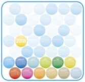 Calendario colorido por el año 2018 Comienzo de la semana en Sund Fotografía de archivo