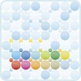 Calendario colorido por el año 2017 en un tema de los círculos, en vector Fotos de archivo