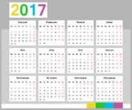 Calendario Comienzo de la semana el lunes Foto de archivo libre de regalías