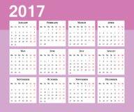 Calendario Comienzo de la semana el lunes Fotos de archivo