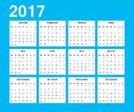 Calendario Comienzo de la semana el lunes Imagen de archivo libre de regalías