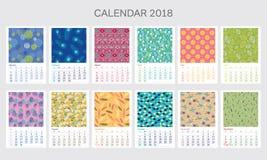 Calendario 2018 con diversos modelos Imagen de archivo