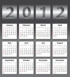 Calendario con estilo para 2012 ilustración del vector