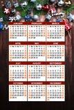 Calendario con il Natale Fotografia Stock Libera da Diritti