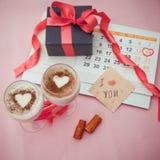 Calendario con la fecha el 14 de febrero Fotografía de archivo libre de regalías