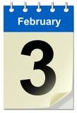 Calendario con la pagina della curvatura illustrazione di stock