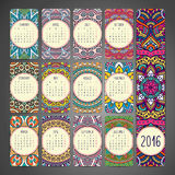 Calendario con le mandale illustrazione vettoriale