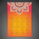 Calendario con le mandale Fotografia Stock Libera da Diritti
