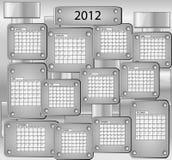 Calendario con todos los meses del año 2012 Fotos de archivo