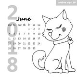 Calendario con un perro libre illustration