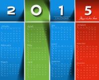 Calendario creativo del Año Nuevo Imagenes de archivo