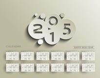 Calendario creativo del Año Nuevo Imagen de archivo libre de regalías