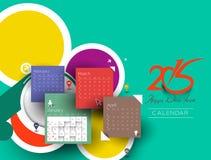 Calendario creativo del Año Nuevo Imagen de archivo