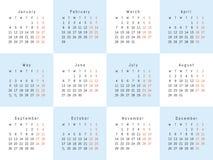 Calendario creativo del vector Imagenes de archivo