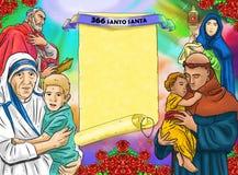 Calendario cristhian de Santo santa Imagenes de archivo