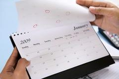 Calendario d'apertura 2009 Fotografia Stock Libera da Diritti